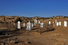 The Hornitos cemetery where a young girl's ghost is said to wander. Mariposa County, California
