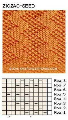 Just Knit and Purl - Zigzag Seed stitch. Just Knit and Purl Zigzag Seed stitch. Just Knit and Purl Knitting Charts, Loom Knitting, Knitting Designs, Knitting Patterns Free, Knit Patterns, Stitch Patterns, Knitting Machine, Free Knitting, How To Purl Knit