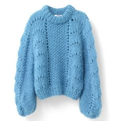 The Julliard Mohair Pullover, Cyan Blue Hand Knitted Sweaters, Mohair Sweater, Blue Sweaters, Oversized Sweaters, Thick Sweaters, Knit Fashion, Sweater Fashion, Best Christmas Jumpers, Pull Mohair