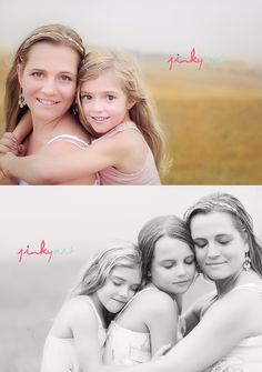 Mother daughter poses by Jinky Art