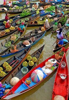 Floating market, Bangkok, Thailand. December!!