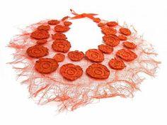 Textile Necklace by Ana Hagopian - delicate fibers