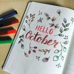 Hello October ☀️ #fms_yellow #littlemomentsapp #bulletjournal #hellooctober #bujo #leuchtturm1917 #nothingisordinary_ #littlebitsof_life #at_diff #brushlettering #planwithmechallenge inspired by @love_print