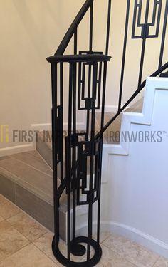 First Impression Ironworks Stair Railing #ornamentaliron #staircase #ironrailing #customiron #ironartwork · Storm DoorsSecurity ... & First Impression Ironworks spiral staircase #ornamentaliron #stairs ...