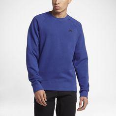 Nike SB Everett Crew Men's Sweatshirt Size Large (Blue) - Clearance Sale