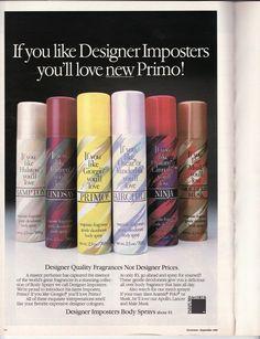 Designer Imposter sprays
