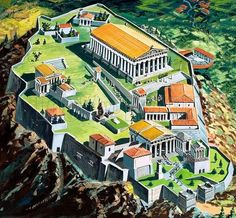 Acropolis and the Parthenon, Athens, ancient Greece Ancient Greek City, Ancient Rome, Ancient Greece, Ancient Aliens, Greece Architecture, Ancient Greek Architecture, Gothic Architecture, Greek History, Ancient History