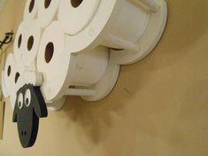 Bathroom Storage Toilet Paper Rack - Sheep - TP Shelf - Bathroom Decor - Not Cloud Unique Toilet Paper Holder, Toilet Paper Storage, White Bathroom Decor, Modern Bathroom, Small Bathrooms, Bathroom Ideas, Apartment Warming Gifts, Piece A Vivre, Ideas