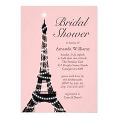 Eiffel Tower Twinkles Bridal Shower Invitation