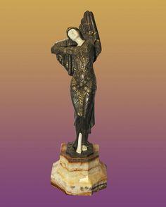 Chiparus Bronze Sculpture : Lot 293