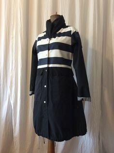 Blue-black-white raincoat II. HAVRAN Unique Outfits, Rain Jacket, Windbreaker, Raincoat, Black And White, Jackets, Blue, Clothes, Fashion