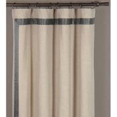 gray silk banding, inset with mitered corner