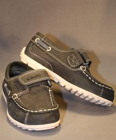This leather boat shoe by Clark's is sure to keep your little man happy all summer! Boys Casual Shoes, Leather Boat Shoes, Little Man, Clarks, Sperrys, Sneakers, Happy, Summer, Fashion