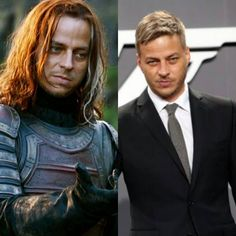 One of the more dramatic transformations comes from actor Tom Wlaschiha. Most are used to seeing him in role as the mysterious Jaqen with long, dark hair. In real life though, Tom sports a short, blond hairstyle and is seen looking sleek and stylish. Tom Wlaschiha, Jaqen H Ghar, Valar Morghulis, Valar Dohaeris, Watch Game Of Thrones, Game Of Throne Actors, Film Games, Lovely Eyes, Blonde Guys