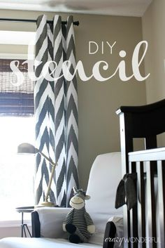 how to make stenciled curtains
