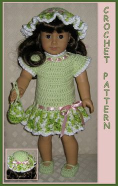 Doll Clothes Crochet Pattern Fits 18 inch American Girl 13 | eBay