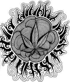 free adult coloring pages weed aol image search results - Trippy Coloring Pages