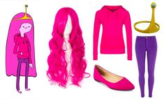 Easy Princess Bubblegum Halloween/Cosplay Costume. Get the look and more costume ideas on Wrong Button Blog!