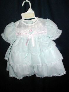 DRESSES SZ 12M CUTE BABY DRESS ROSAS PANTYS BONUS 12 M our store link http://stores.ebay.com/store4angels?refid=store come see our store front always have great sales