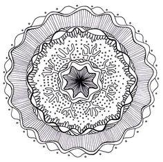 Free Mandala Adult Coloring Page to Print