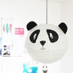 Lovely panda lampe diy basteln edding filzstift malen ikea