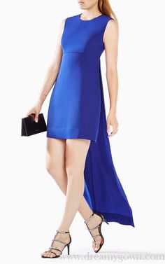 2016 BCBG Leandra High-Low Sleeveless Cocktail Dress