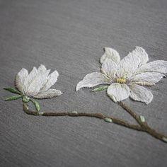 Magnolia embroidery