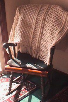 Free Crochet Pattern: Aran Afghan @ http://web.archive.org/web/20040205022116/http://members.aol.com/crochetalong/aranghan.html