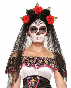 Day Of The Dead Womens Adult Halloween Accessory Headband