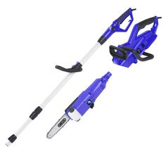 Blue Max 2-in-1 Portable 8 in. Corded Electric Chainsaw with Telescoping Pole