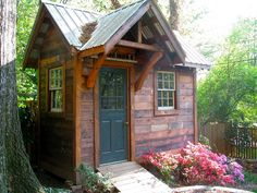 garden shed. Funnily enough, this reminds me of my Grandad's brick shed where he boiled up hen food! He liked sheds too!