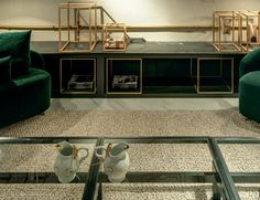Lounge 9 - Bancada em Quartzito Negresco Vintage - Arquitetos Ana Paula Castro e Sanderson Porto