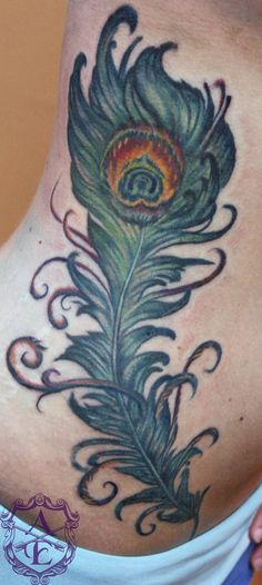 peacock feather tattoo | Peacock Feather Tattoo done by Sean Ambrose by *seanspoison on ...