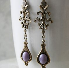 LAVENDER DROPS romantic vintage fantasy by TheVictorianGarden, $32.00