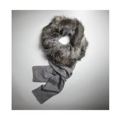 Kenneth Cole New York Long Scarf With Faux Fur ($138) found on Polyvore