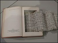 Obra de la Tercera Bienal del Libro de Artista