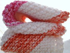 Pink White Orange Knitted Dish Cloths  for Kitchen by CherylsKnits, $6.00