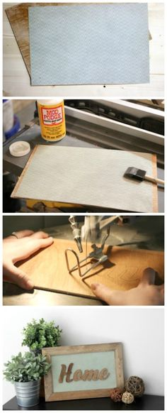 Step by step tutorial to make your own wood home decor sign! Love this idea!