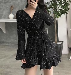 Style up your daily look with our unique MOODLFT® collection in trendy Korean fashion. Shop our exclusively curated chic Korean fashion & K-beauty products. Girly Outfits, Pretty Outfits, Pretty Dresses, Dress Outfits, Fashion Dresses, Moda Outfits, Fashion Pants, Stylish Dresses, Casual Dresses
