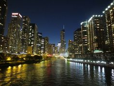 A romantic getaway to Chicago should be on your list of things to do in Get the info on the top romantic spots and things to do with your partner. Places In Chicago, Chicago River, Chicago Photos, Romantic Destinations, Romantic Getaways, Romantic Travel, The Second City, My Kind Of Town, Romantic Photos