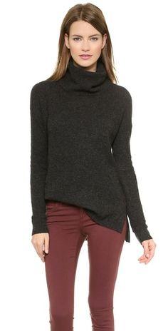 Madewell Solid Petra Rib Turtleneck Sweater | SHOPBOP