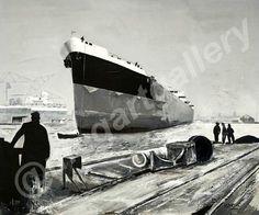 Artis: Martin Davis Title: the ship in doc acrylic Ship, Gallery, Ships, Yachts