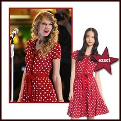 Wonder where I can buy a polka dot dress like this Taylor Swift Costume, Taylor Swift Outfits, Taylor Swift Style, Taylor Alison Swift, Rebecca Taylor, Feminine Dress, Dress Codes, Cute Fashion, Girly Girl