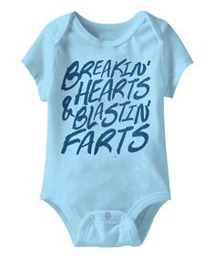Look at this #zulilyfind! Aqua Hearts & Farts Bodysuit #zulilyfinds