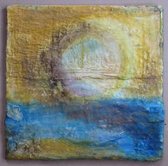 plaster-paints-wax mixed media pieces by Linda Wiggen Kraft Diy Plaster, Plaster Paint, Faux Painting, Texture Painting, 3d Canvas Art, Paris Crafts, Plaster Of Paris, Encaustic Painting, Summer Art