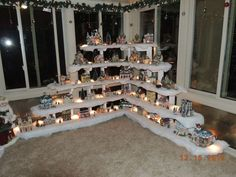 christmas village design ideas | neat Christmas Village idea | Christmas Decor and Winter Decor