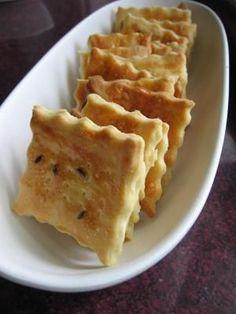 Ropogós sós keksz recept fotója