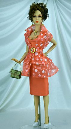 """""""Tangerine Dream"""" OOAK by Michael Scott Designs for Sybarite and Ficon dolls more info http://michaelscottdesigns.weebly.com/tangerine-dream.html"""