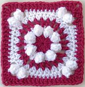 "BAMCAL 2015 JULY 6 inch square Ravelry: Sweet Sixteen - 6"" Square pattern by Melinda Miller"