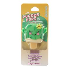 Strawberry Flavoured Cactus Pucker Pops Lipgloss